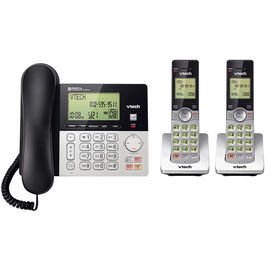 VTech Corded with 2-Handset Cordless Phone - Silver - CS6949-2