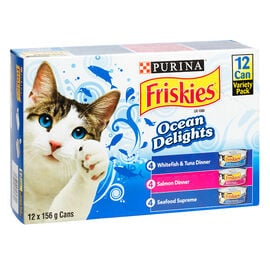 Friskies Ocean Delights  for Cats - Variety Pack - 12 x 156g