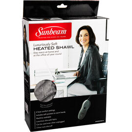 Sunbeam Heated Personal Shawl - Grey - SHWL825-MM-CN