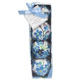 Emily Rose Bath Fizzers - Violet Rose & Sandalwood - Blue - 4 x 50g