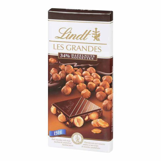 Lindt Grand Hazelnuts Dark Chocolate - 150g