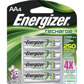 Energizer AA Rechargeable NIMH Batteries - 4 pack - NH15BP4