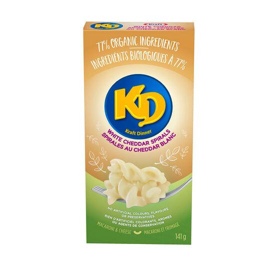 KD Organic White Cheddar Spirals - 141g