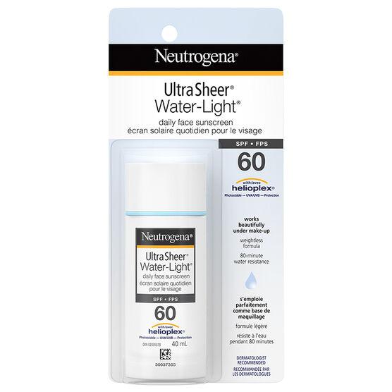 Neutrogena Ultra Sheer Water-Light Daily Face Sunscreen - SPF 60 - 40ml