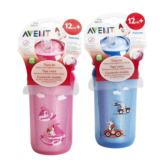 Avent Insulated Sippy Cup - Assorted - 12months+ - 260ml