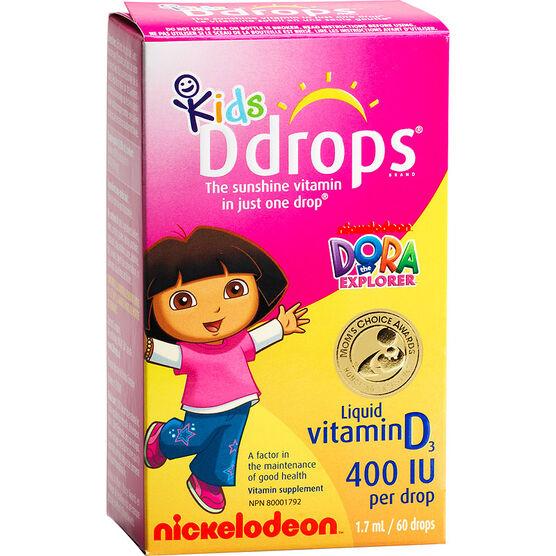 Ddrops Kids Liquid Vitamin D Drops 400IU - 60 Drops