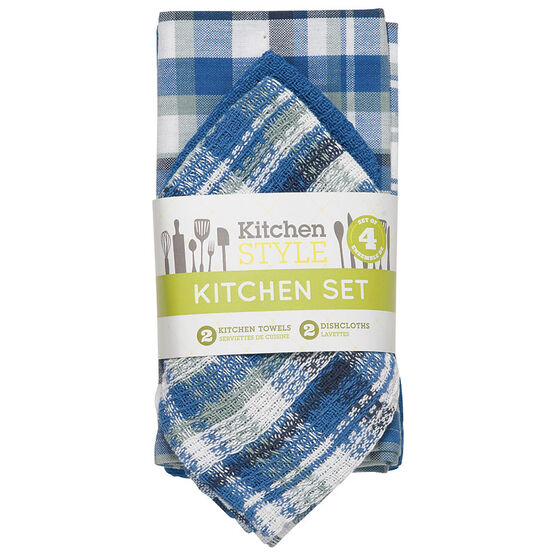 Kitchen Style Kitchen Set - Blue - 4 piece