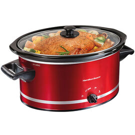Hamilton Beach 8 Quart Slow Cooker - Metallic Red - 33184C