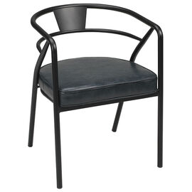 London Drugs Retro Curve Back Chair - Black