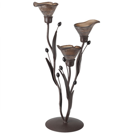 London Drugs Glass Lily 3 Candle Holder