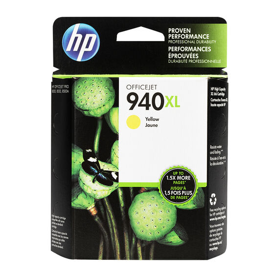 HP 940XL Officejet Ink Cartridge - Yellow - C4909AC140