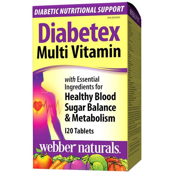 Webber Naturals Diabetex Multi Vitamin - 120's