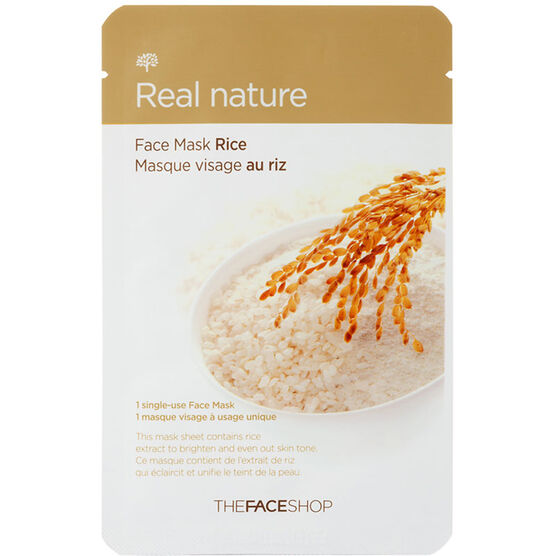 Real Nature Face Mask - Rice - 20g
