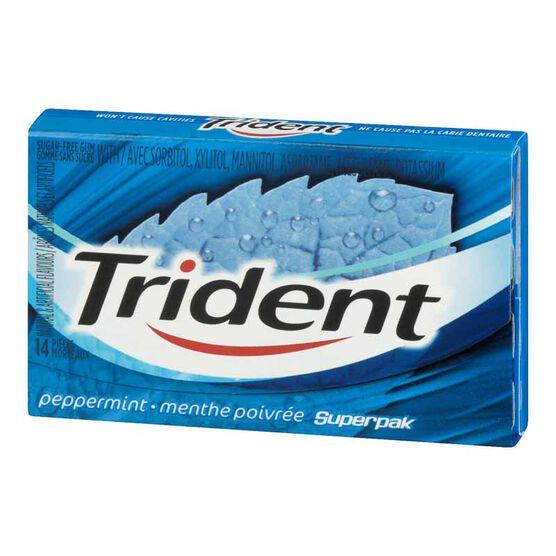 Trident Gum - Peppermint - 14 pieces