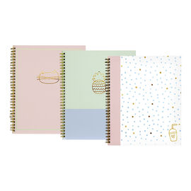 Emma Twin Wire Notebook - Assorted