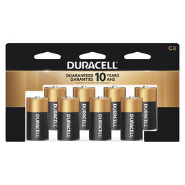 Duracell CopperTop C Alkaline Batteries - 8 pack