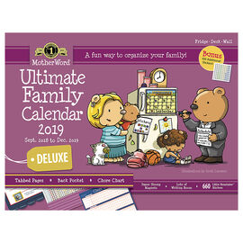 MotherWord Deluxe Ultimate Family Calendar 2018/2019 - Magnetic