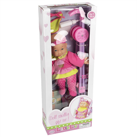 Little Luv Doll with Stroller Gift Set