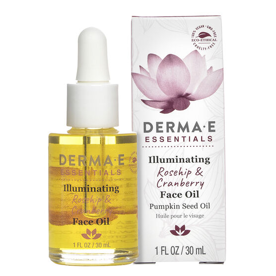 Derma E Essentials Illuminating Rosehip & Cranberry Face Oil - 30ml
