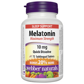 Webber Naturals Melatonin Sublingual Tablets - 10mg - 60's