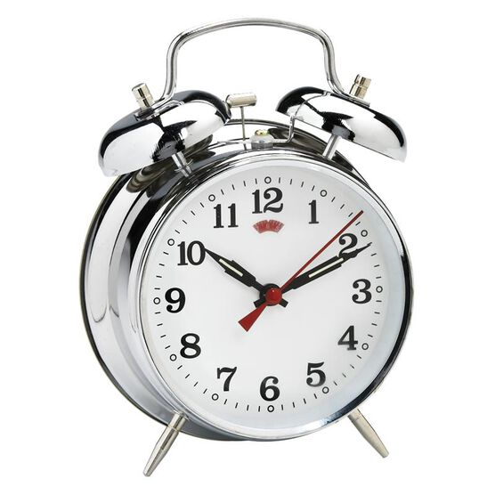 HRS Global Bell Alarm Clock - Silver - BC784