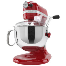KitchenAid Pro 600 Stand Mixer with Flex Edge - Empire Red - KP26M1XFER
