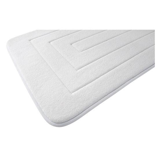 Splash Memory Foam Mat - White