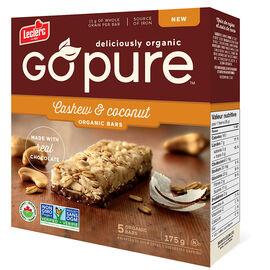 Leclerc Go Pure Organic Bars - Cashew & Coconut - 5 Pack