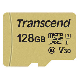 Transcend 500S 128GB microSDXC Memory Card - TS128GUSD500S