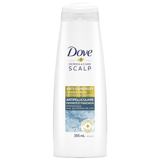Dove Derma+Care Scalp Shampoo - Clean & Fresh - 355ml