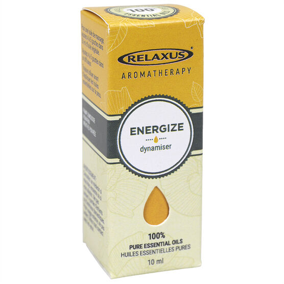 Relaxus Aromatherapy 100% Pure Essential Oils - Energize Blend - 10ml