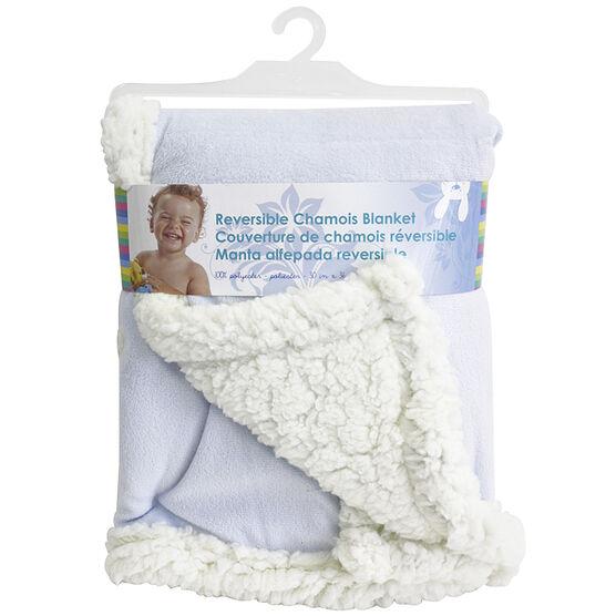 Honey Bunny Reversable Chamois Blanket - Assorted
