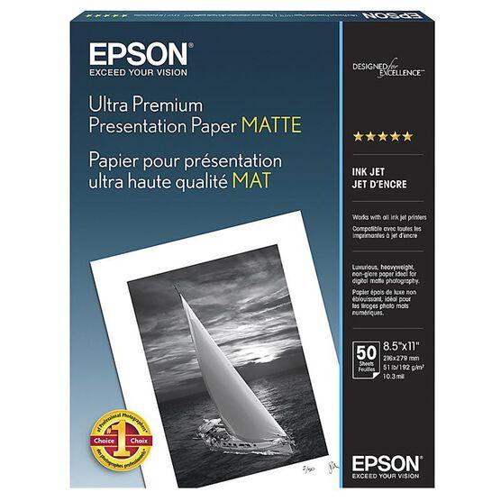 Epson Ultra Premium Presentation Paper - Matte - 8.5 x 11inch - 50 sheets