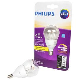 Philips LED A15 Small Base Fan Lightbulb - Soft White - 5.5w/40w