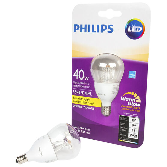 Philips LED A15 Small Base Fan Lightbulb - Soft White - 5.5w/40w
