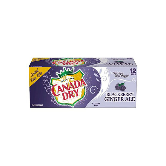 Canada Dry Ginger Ale - Blackberry - 12 pack