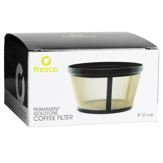 Fresco Jasi 8-12 Cup Goldtone Basket Filter - KF-10T