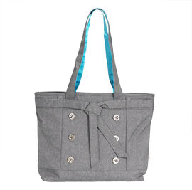 Tree Frog Fashion Laptop Tote - 14 Inch - Polyester - Grey