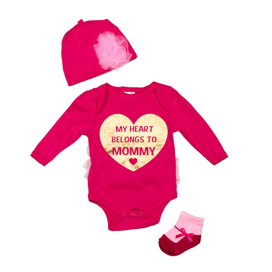 Baby Mode Heart Mommy 3-Piece Onesie Set - 11044 - Assorted