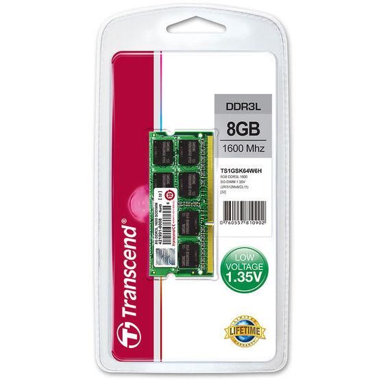 Transcend 8GB DDR3L 1600Mhz SO-DIMM - TS1GSK64W6H
