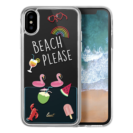 LAUT POP Liquid Case for iPhone X - Beach Please - LAUTIP8POPBP
