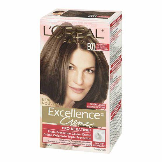 L Oreal Excellence Creme E01 Natural Light Ash Brown