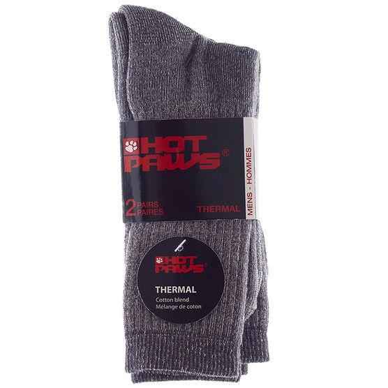 Hot Paws Basics Thermal Socks - Charcoal - 2 Pairs - Men's