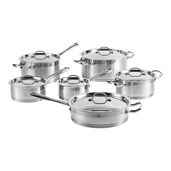 Lagostina Stainless Steel Cookware Set - 12 piece