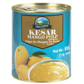 First Choice Kesar Mango Pulp - Sweetened - 850g