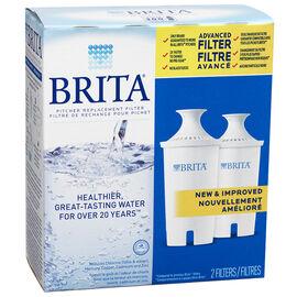 Brita Advanced Pitcher Filter - 2 pack