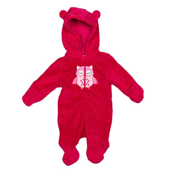 Baby Mode Owl Pram Suit - 11130 - Assorted