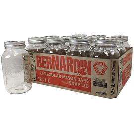 Bernardin Regular Mason Jar - 1L - 12 pack