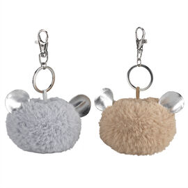London Drugs Pom Pom Key Rings with Ears Assorted