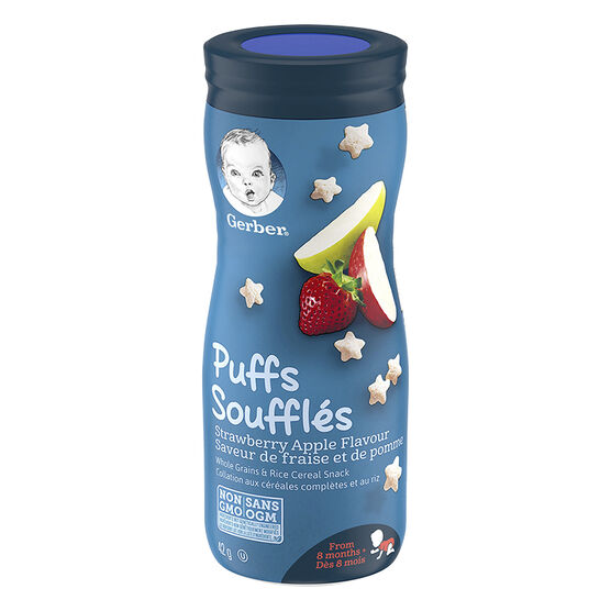 Gerber Toddler Snacks Puffs - Strawberry Apple - 42g